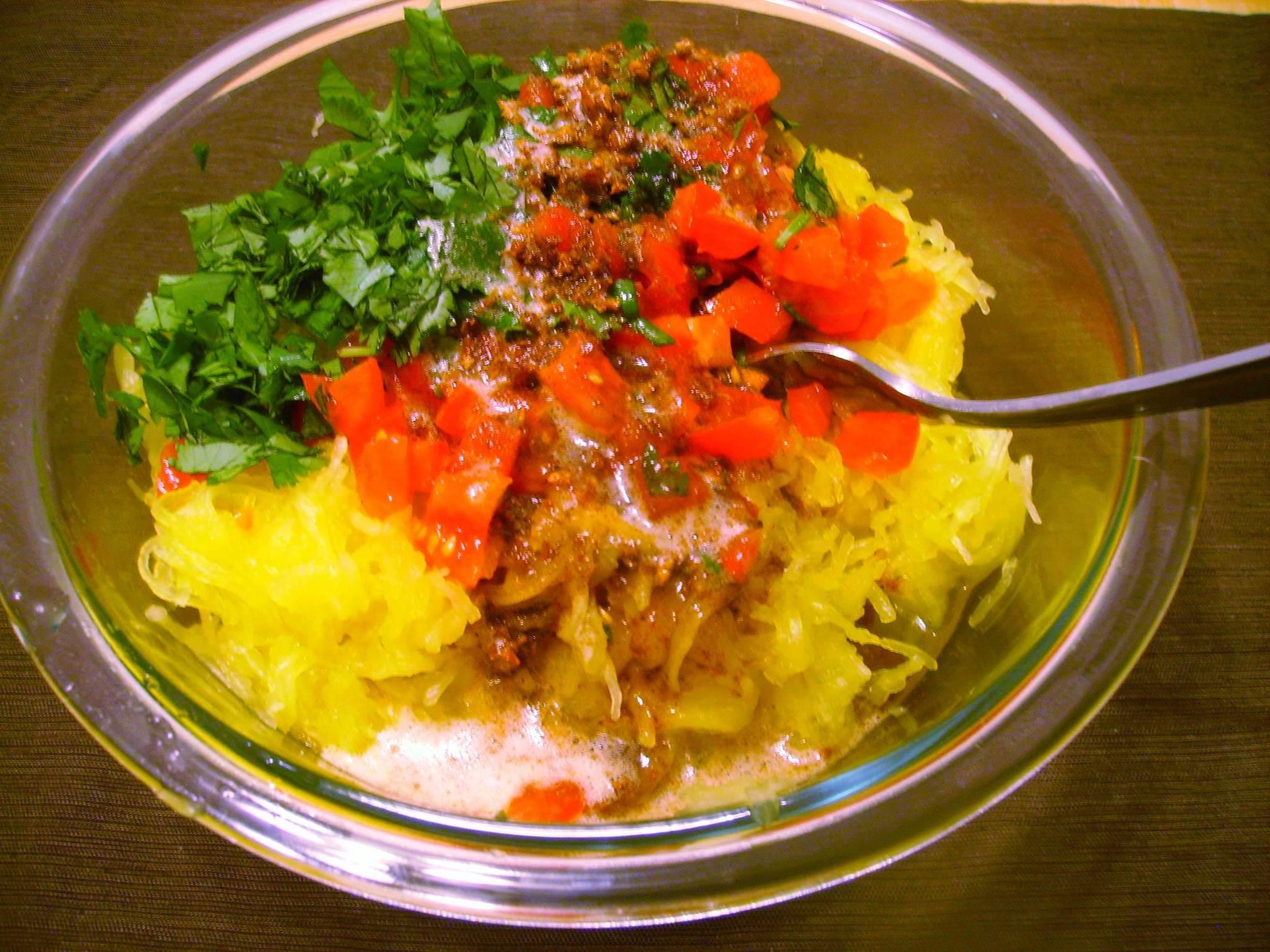 Moroccan-Spiced Spaghetti Squash – Savored Grace