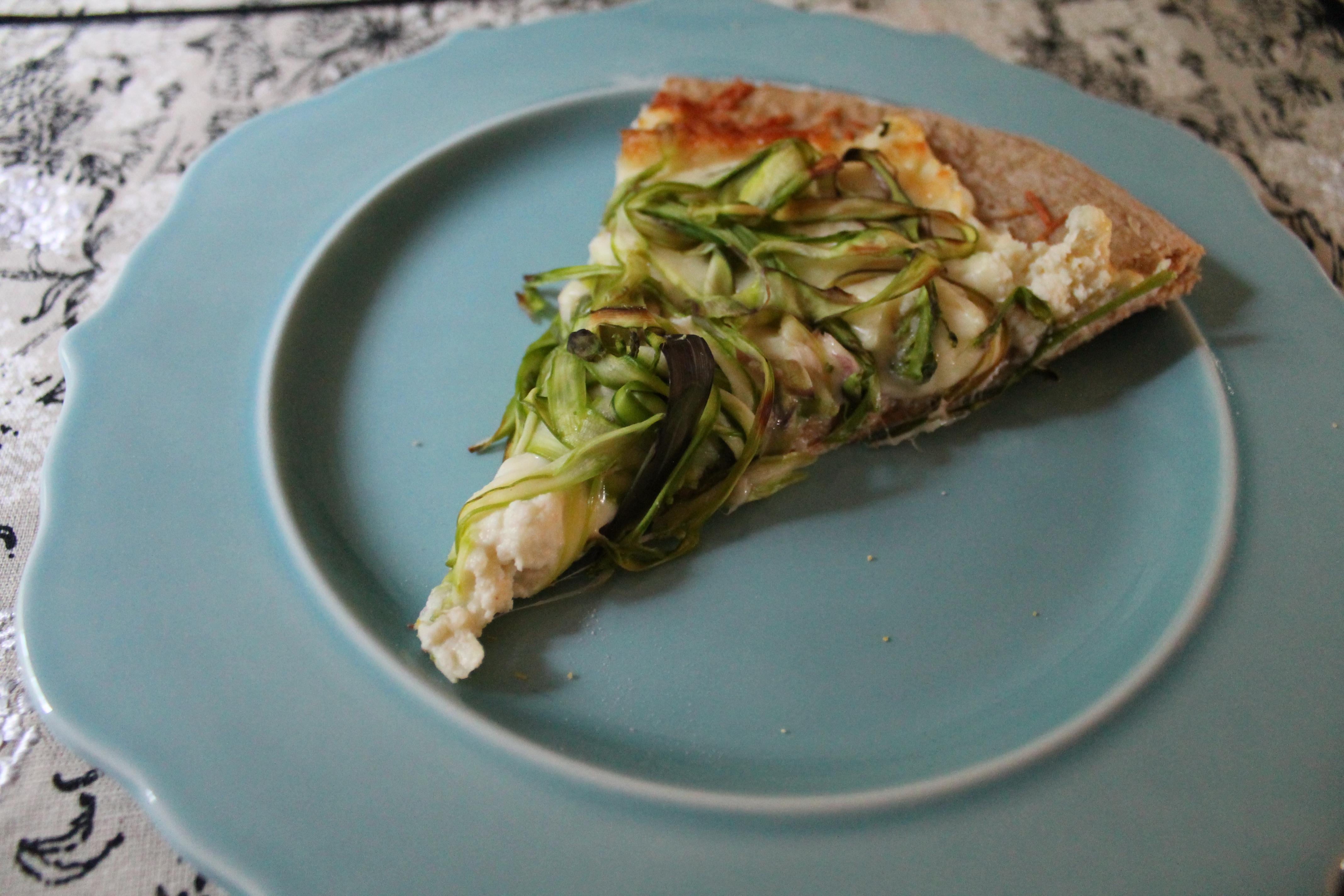 Pizza + Asparagus