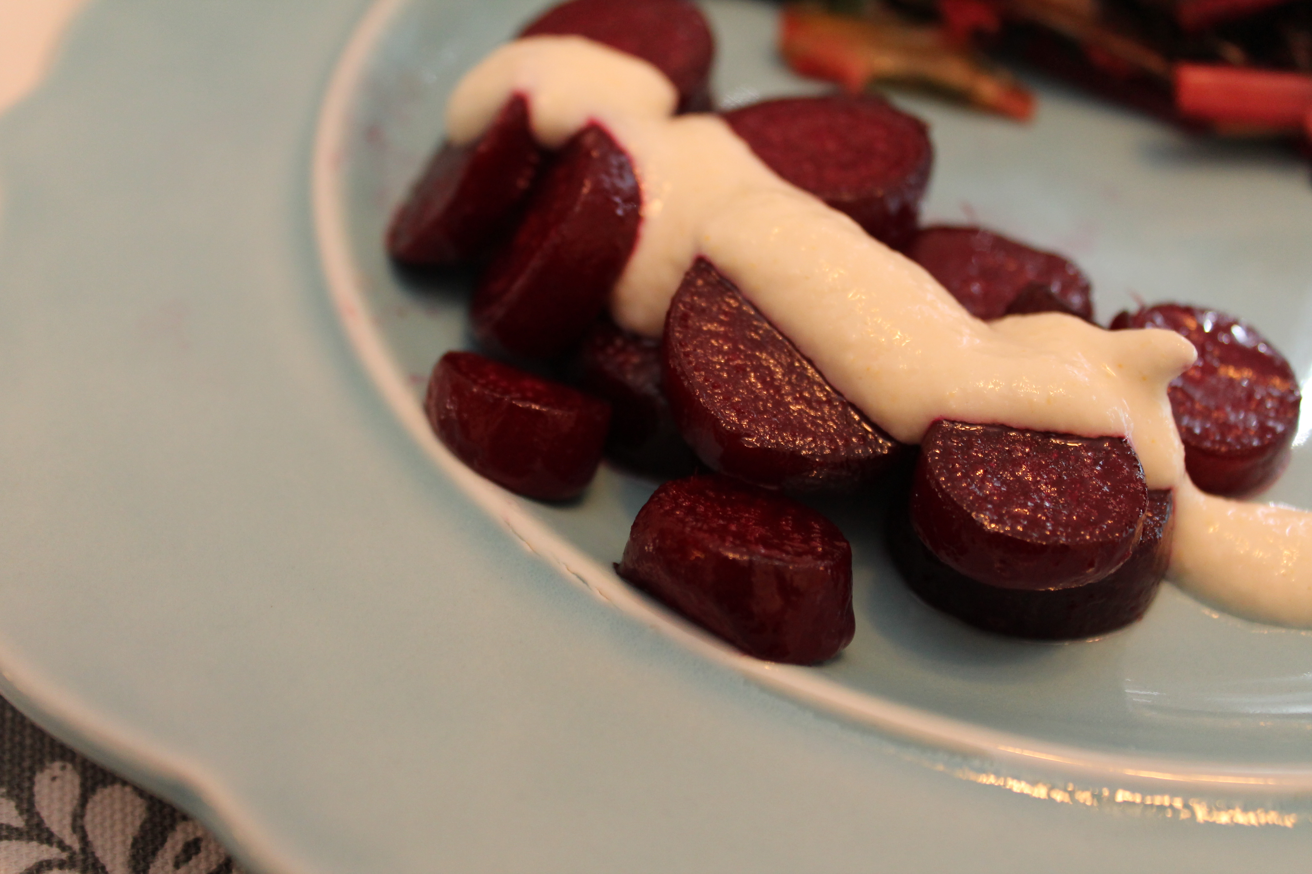 Roasted Beet with Horseradish Cream