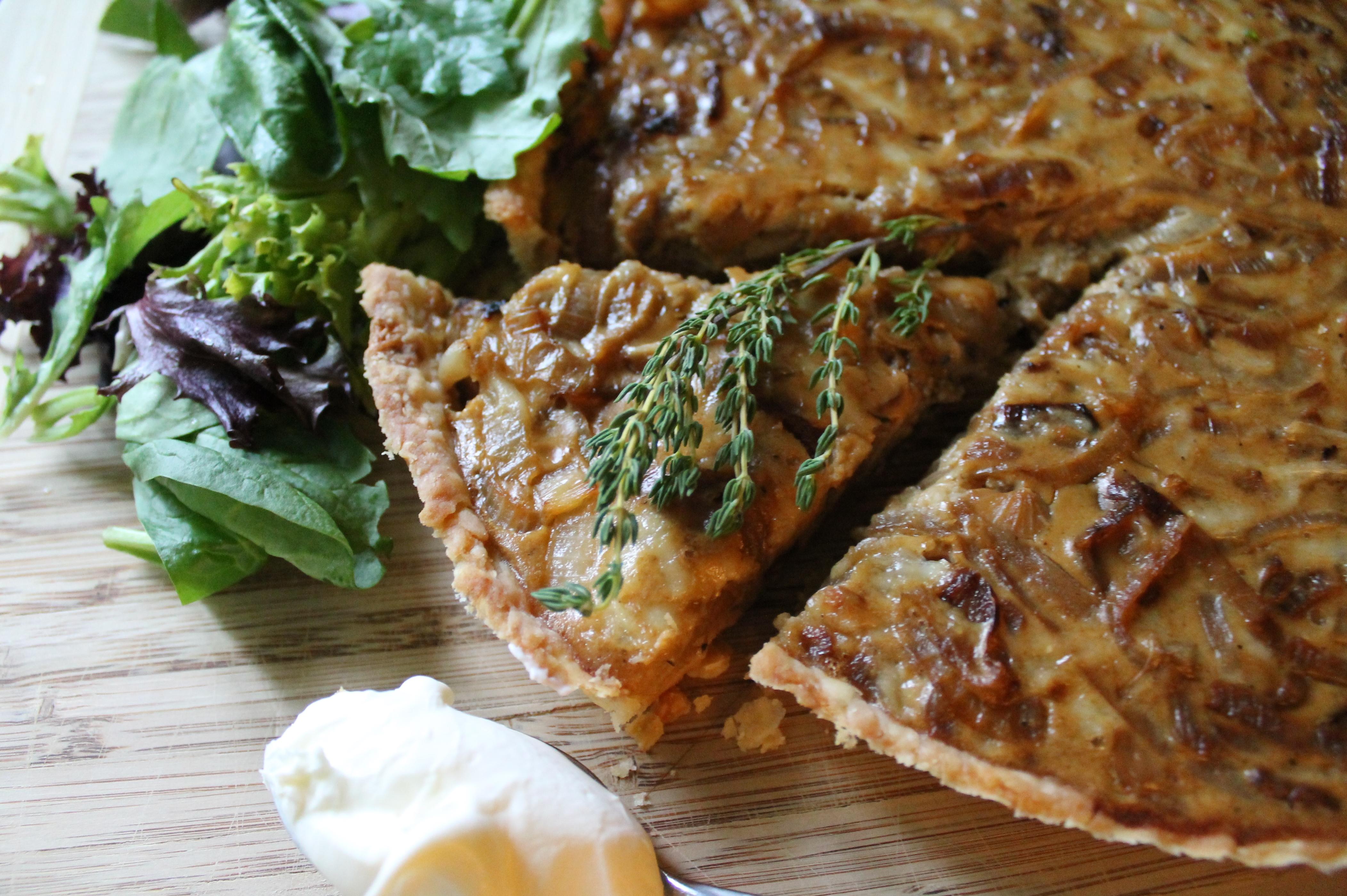 Onion Tart and Creme Fraiche