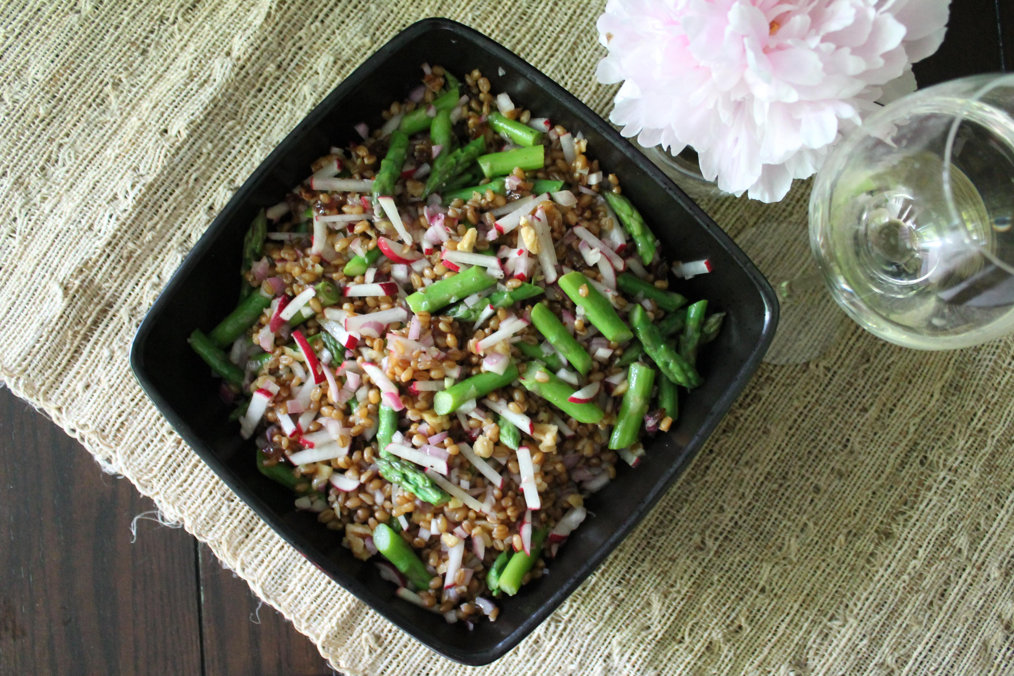 Spring Wheatberry Salad