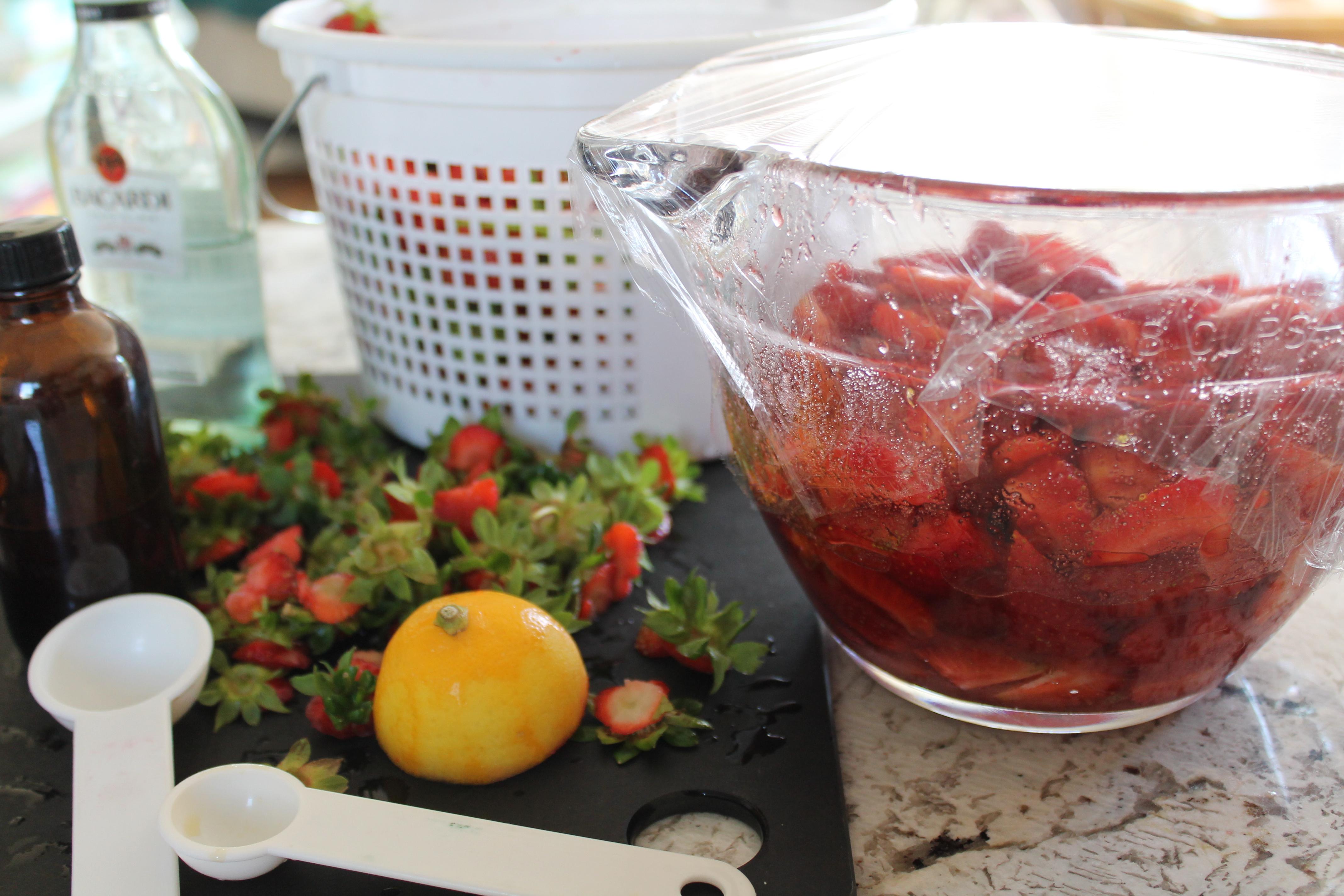 Macerating Strawberries