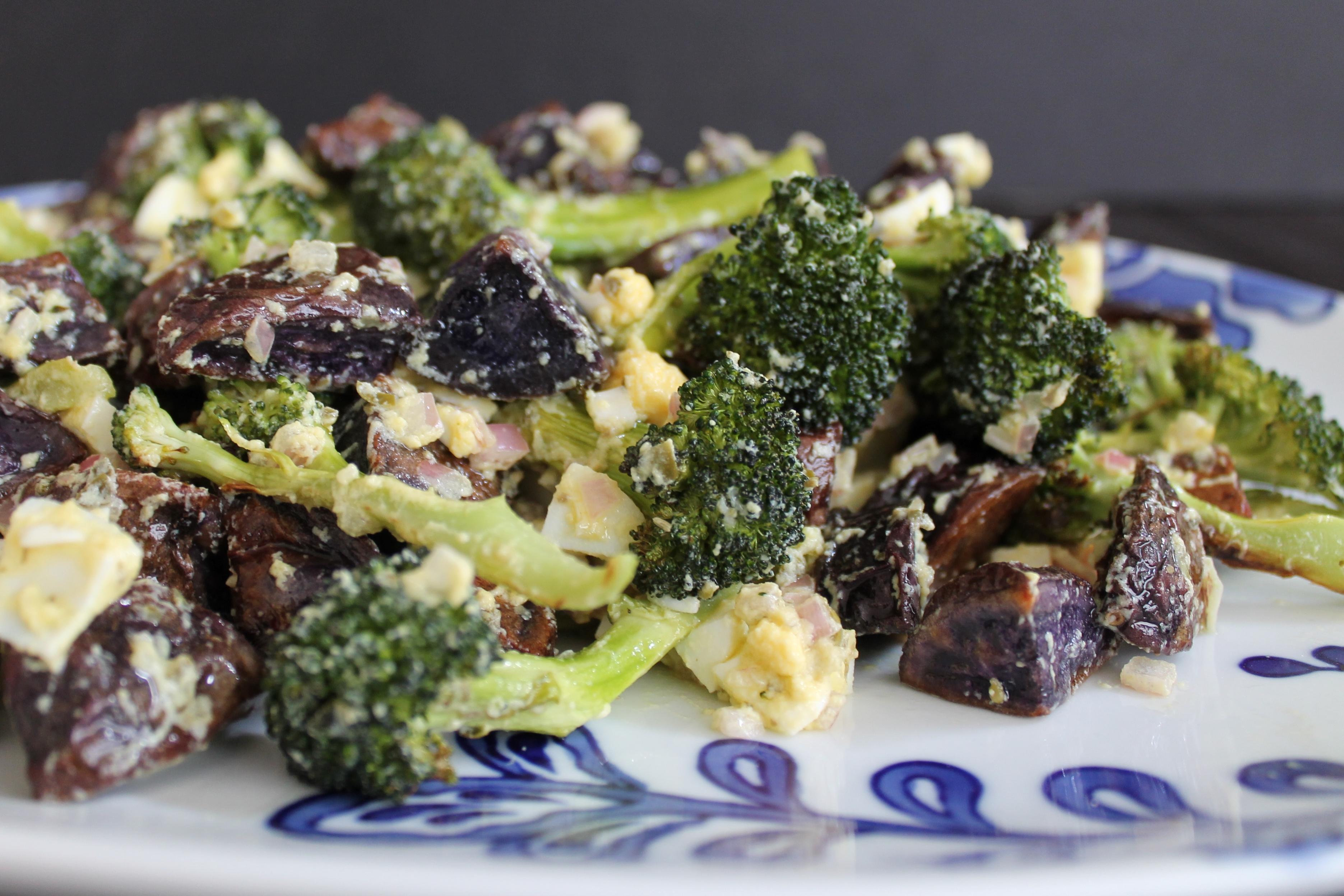 Broccoli and Purple Potato Gribiche