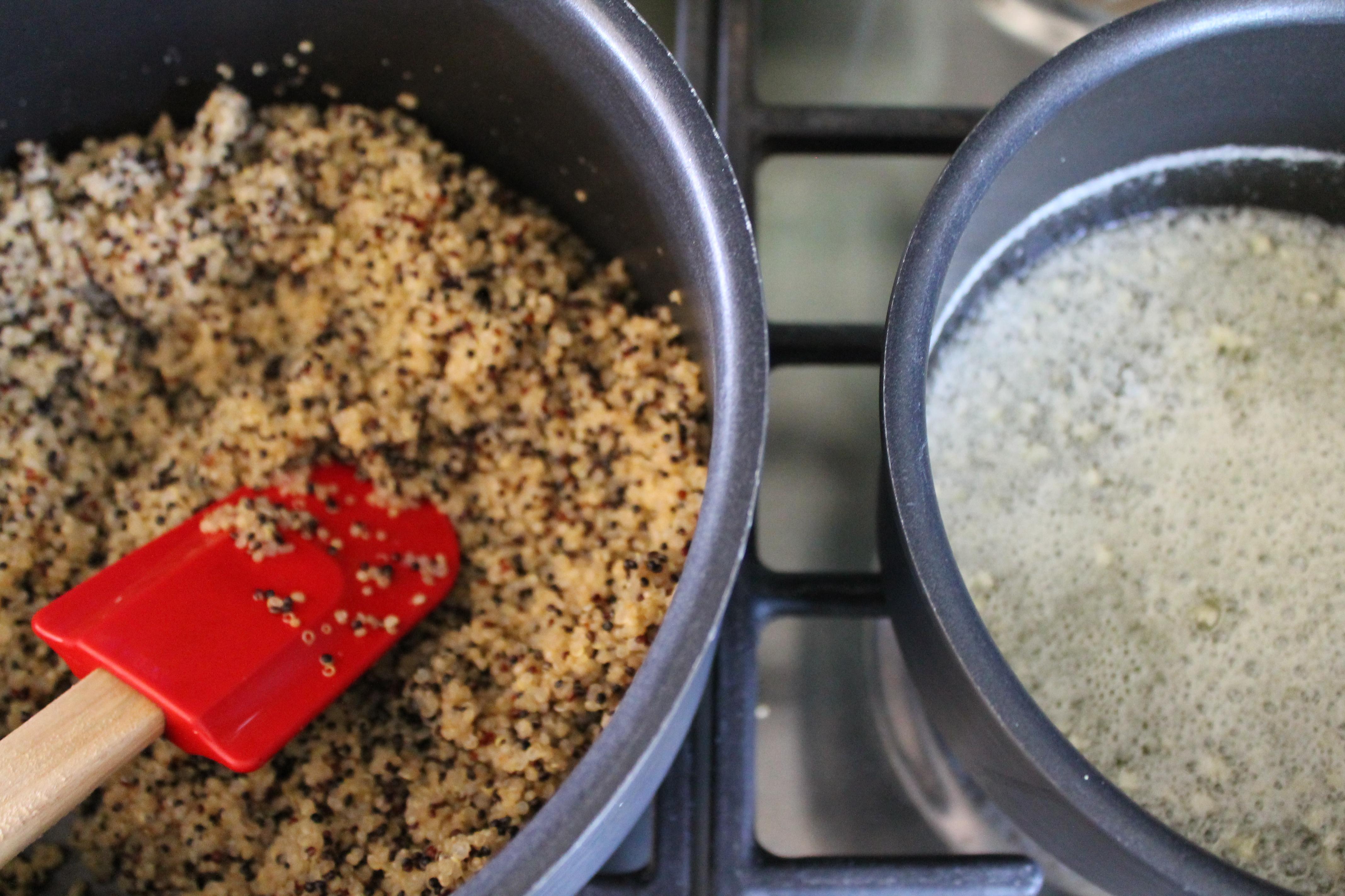 Quinoa and Garlic Butter