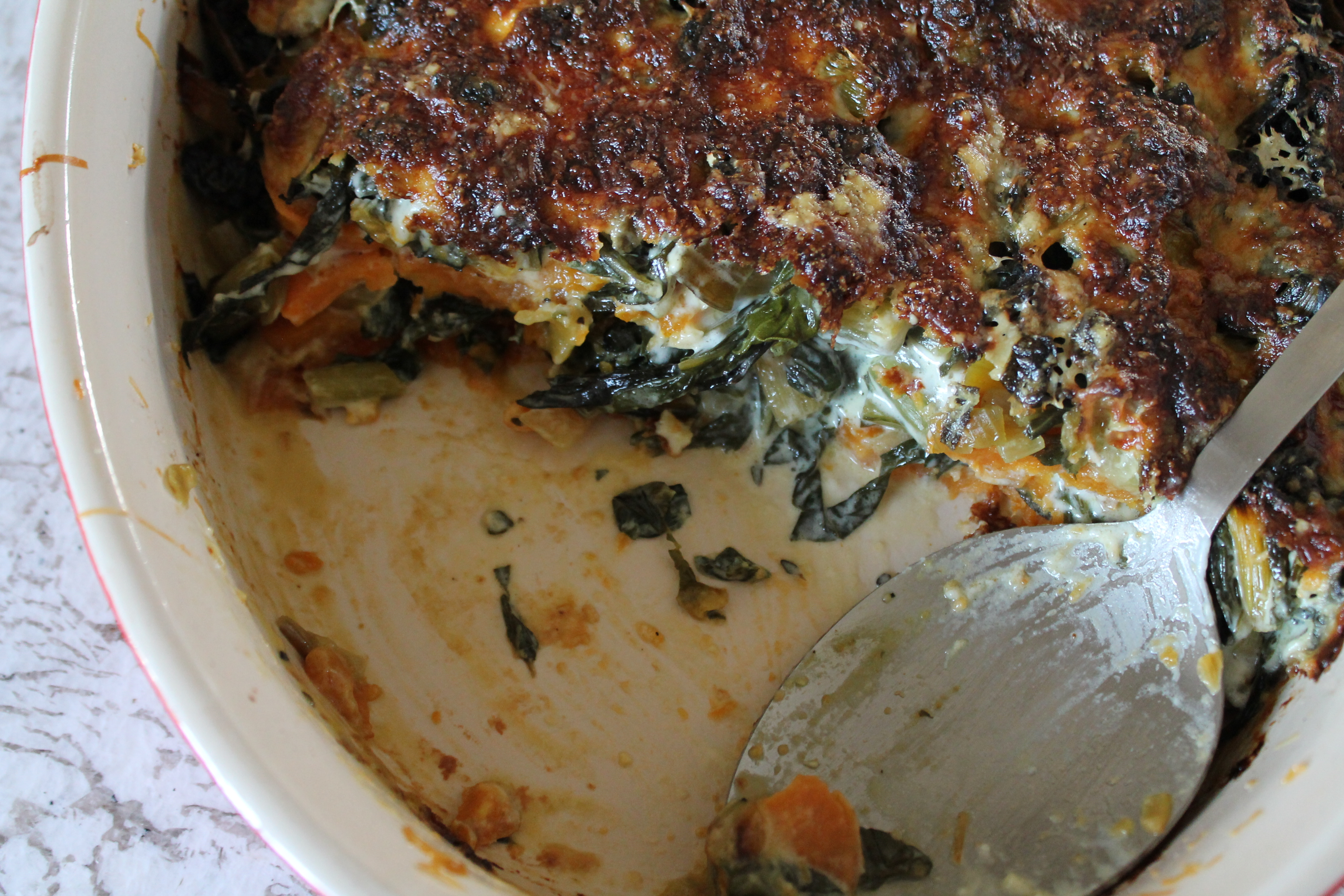 Sweet Potato and Swiss Chard Casserole