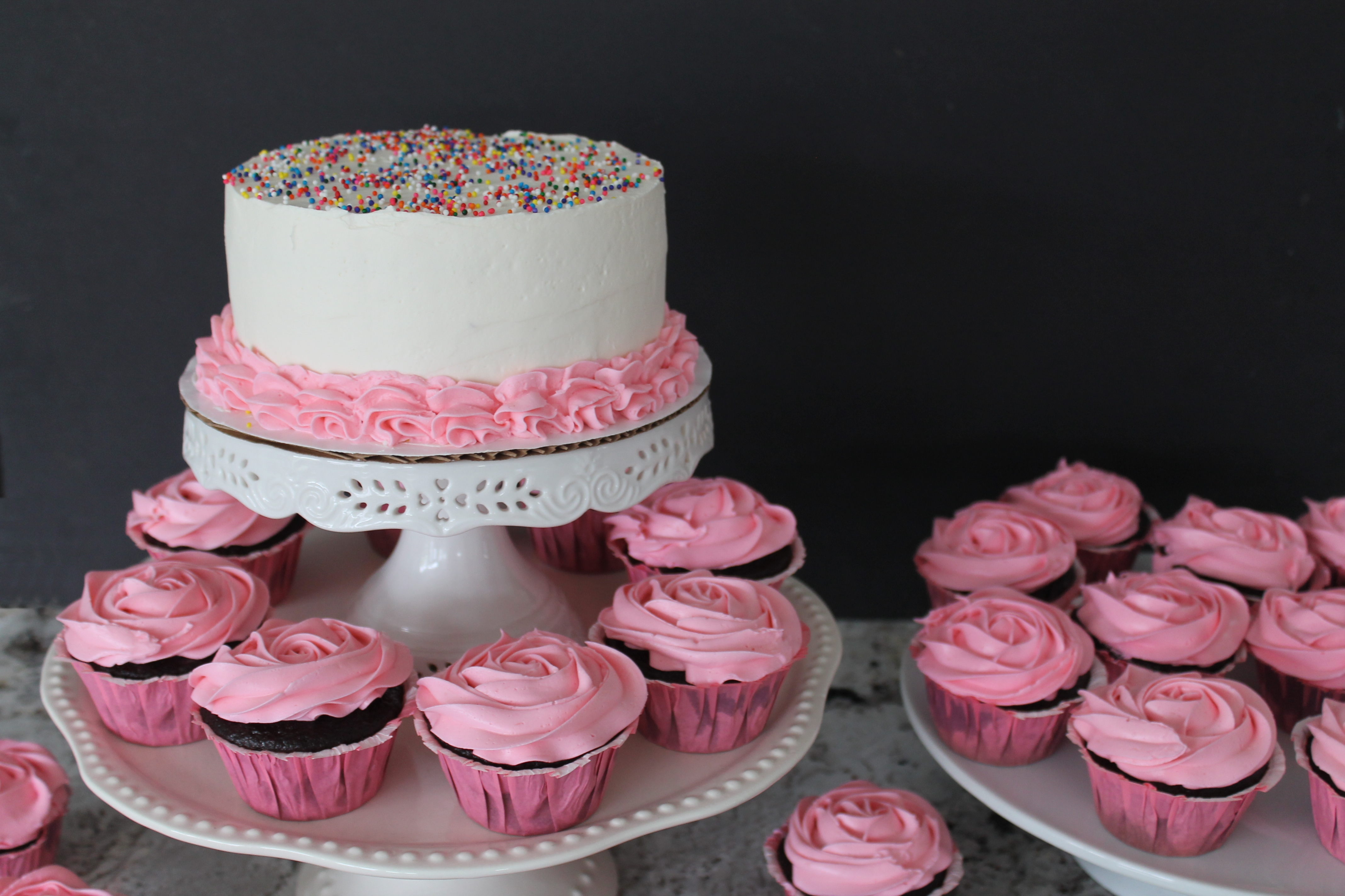 Smash Cake and Rosy Cupcakes