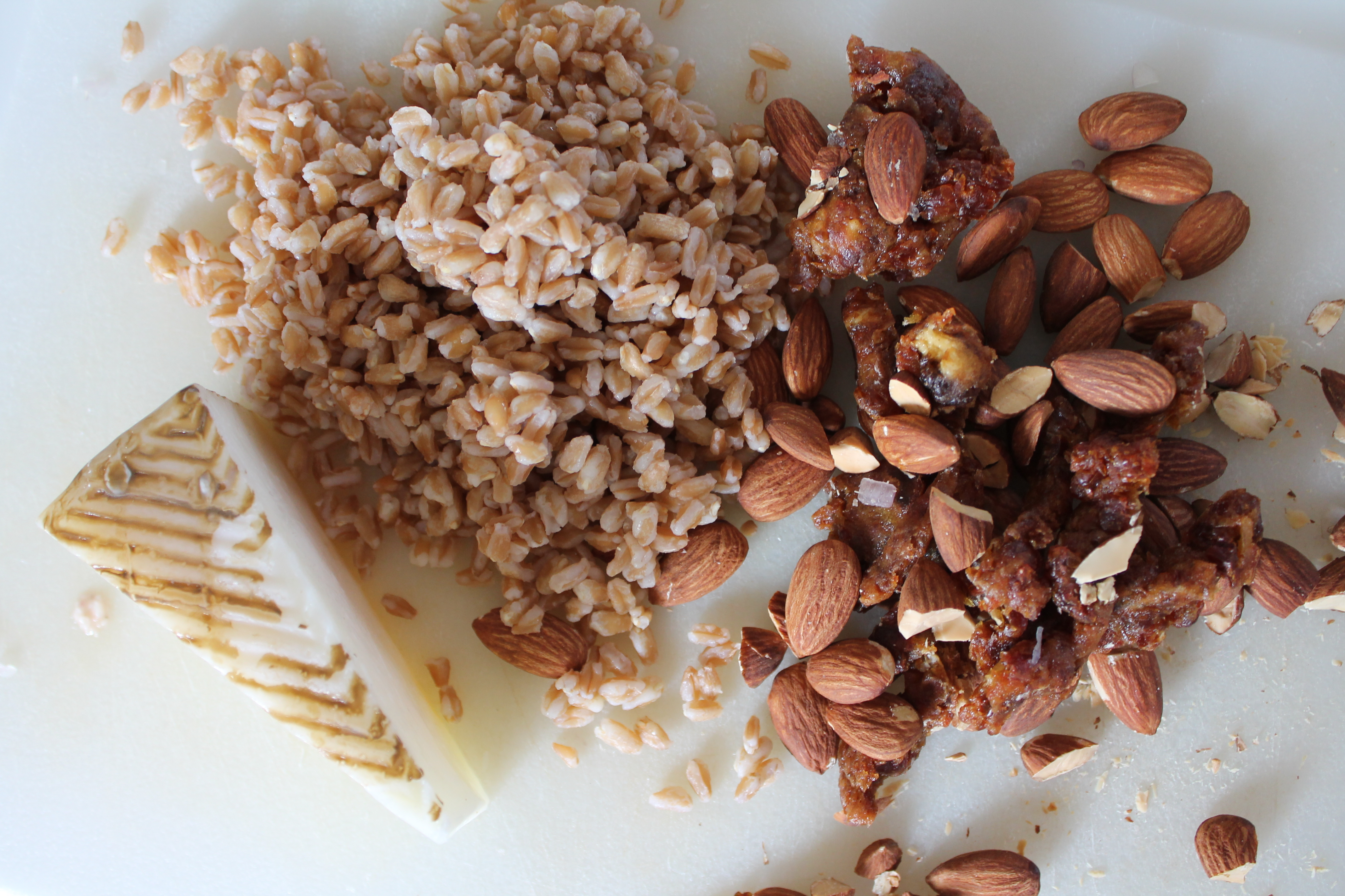 Farro, Manchego, Almonds, Dates