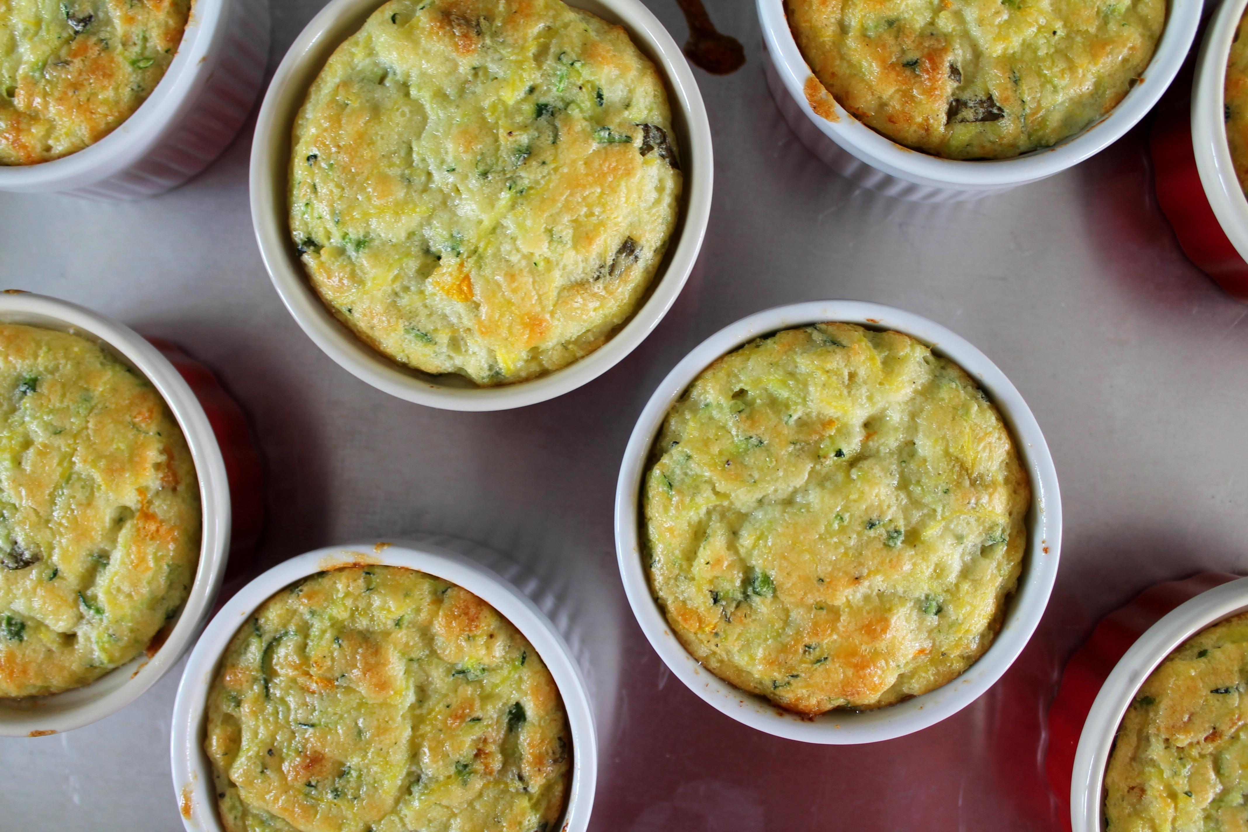 Zucchini and Squash Blossom Souffles