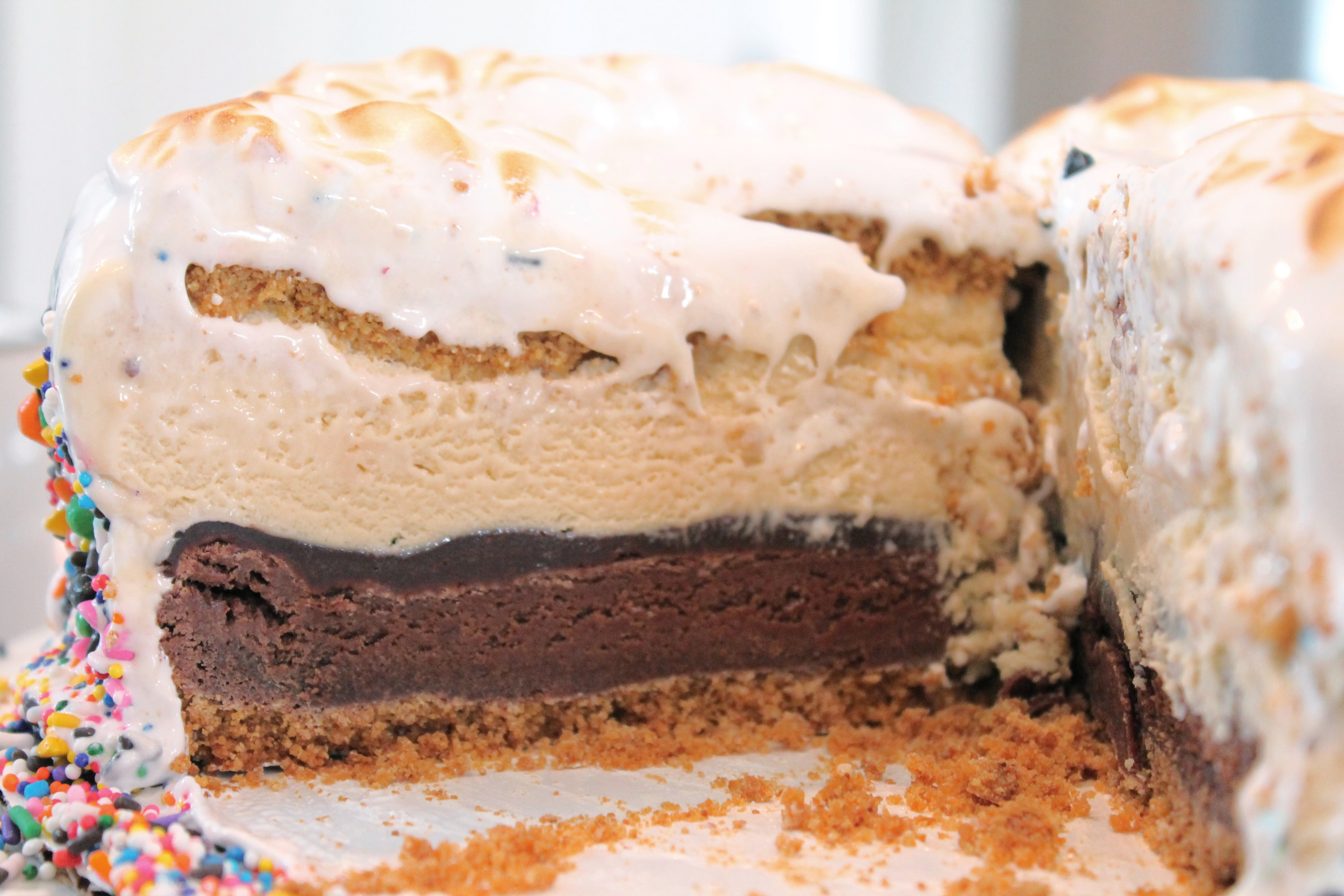 Layers of S'Mores Cake