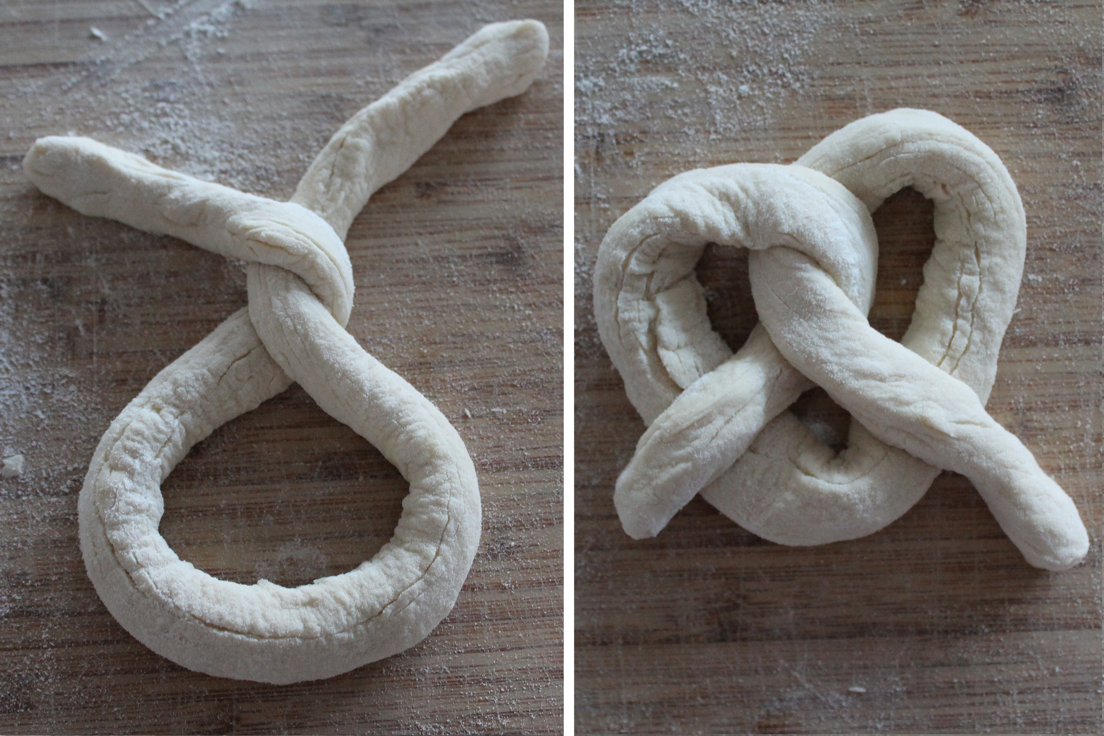 Shaping Pretzels